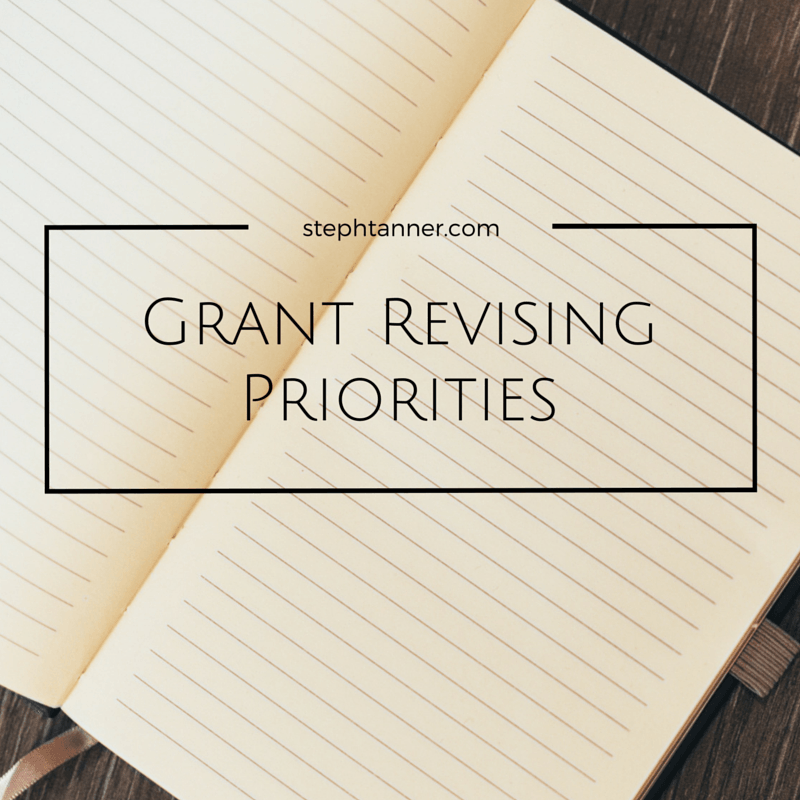 Revising Grant Applications  Priorities Grant Writing And