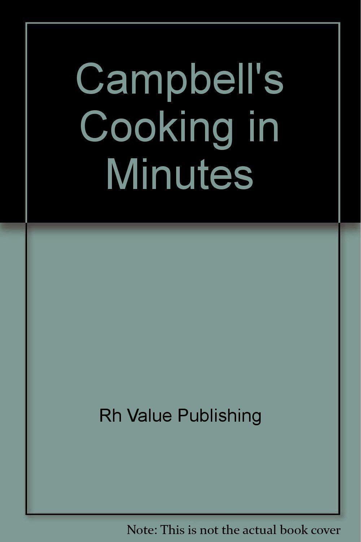 Campbell's (R) Cooking in Minutes: Amazon.de: Rh Value Publishing: Fremdsprachige Bücher