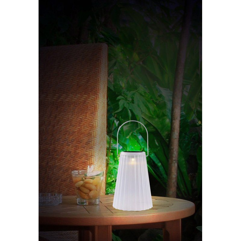 Kenroy home stacking solar table lanterns set of 3 from hayneedle com