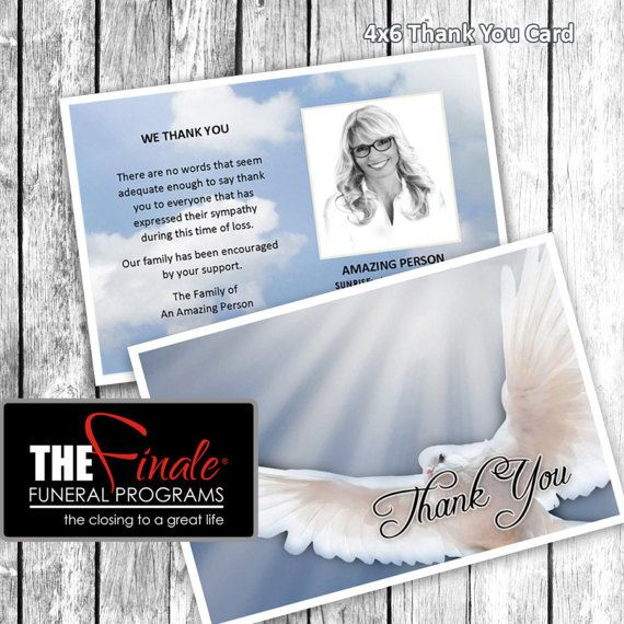 X Thank You Card HEAVENLY DOVE BLUE Microsoft Word - 4x6 thank you card template