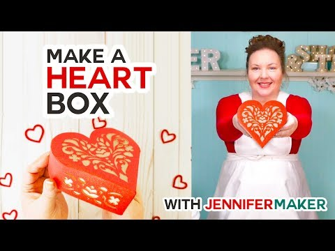 Make a Paper Heart Box To Show Your Love Jennifer Maker