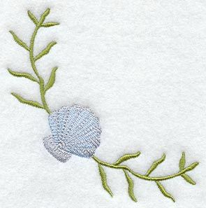 Center Front under keyhole??  seashell embroidery designs - Google Search