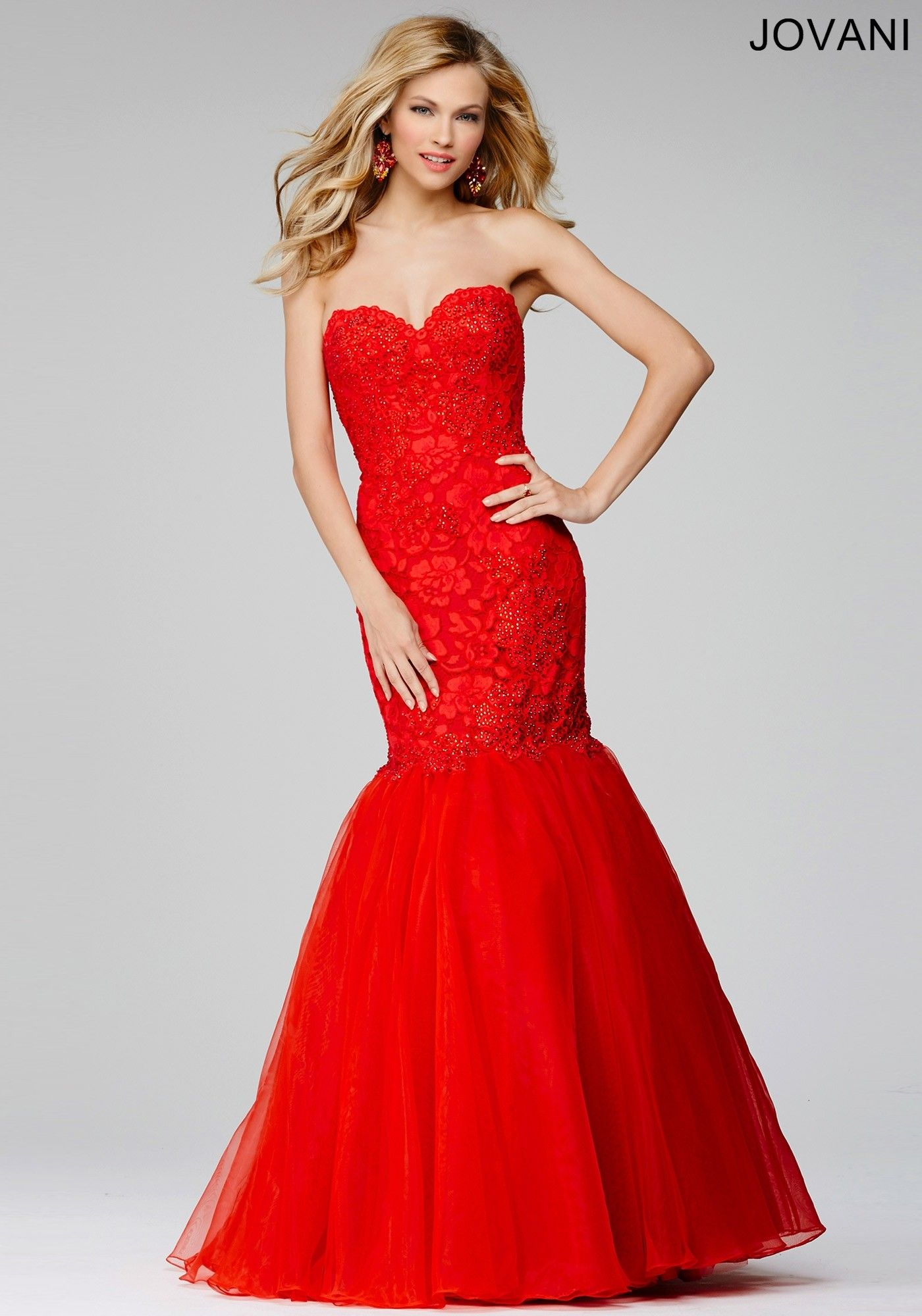 58eff6afd3e Red Lace Prom Dress Jovani - Gomes Weine AG