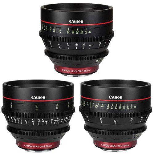 Canon Ef Cinema Prime Lens Kit From B H 24 50 And 85mm B H Photo Video Prime Lens Photography Lenses Digital Cinema