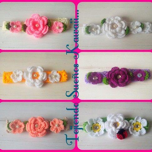 Diademas tejidas headband crochet bandas tejidas para - Diademas de ganchillo ...