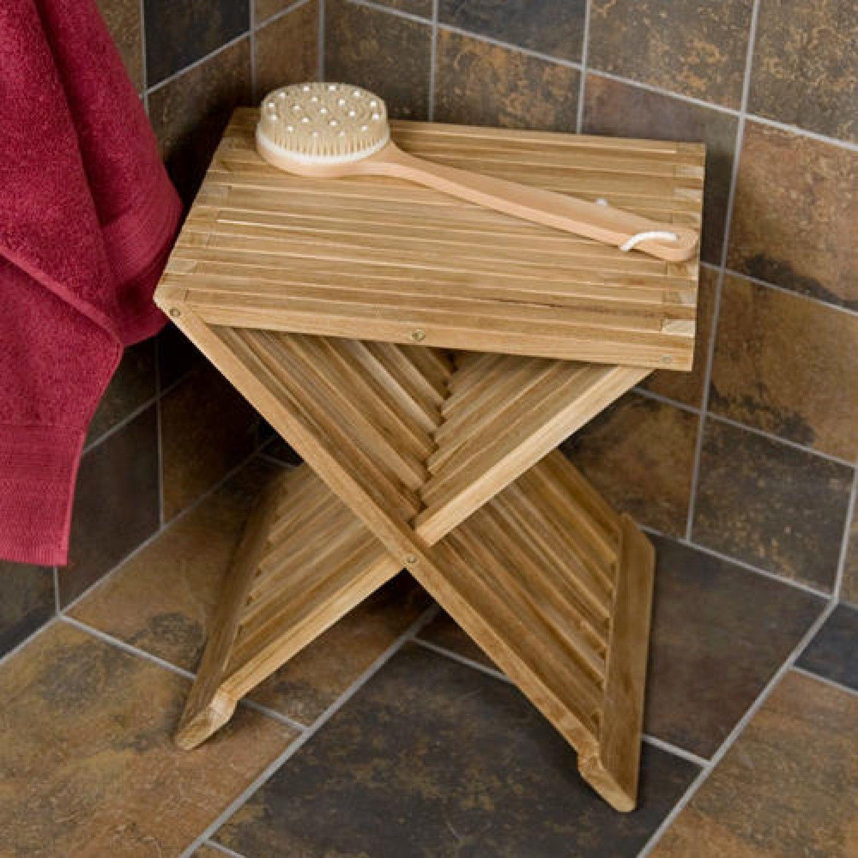 Folding Teak Shower Seat Decorating Ideas Shower Seat