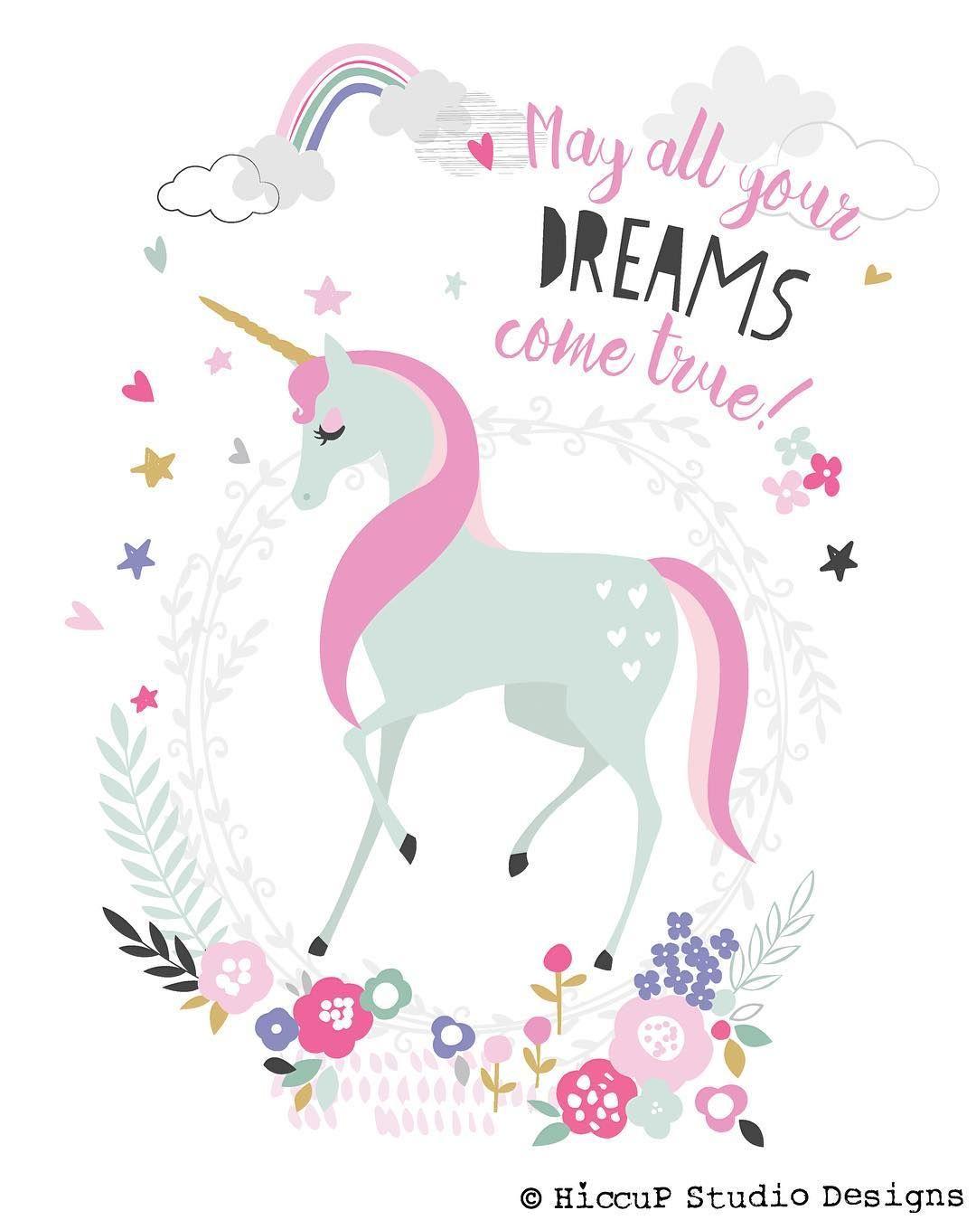 May All Your Dreams Come True Unicorn Fairy Illustration It S