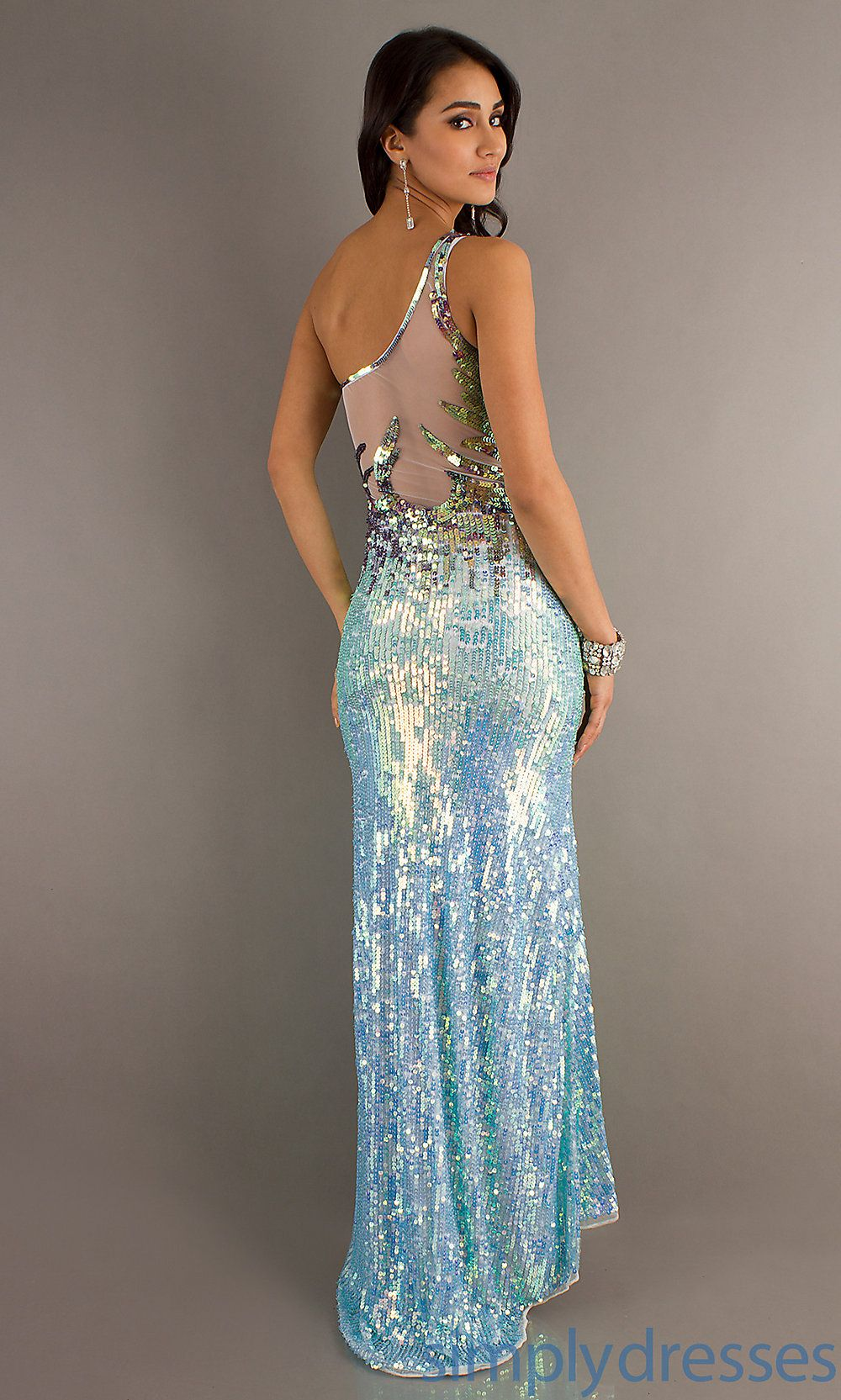Light Blue Sequin Dress