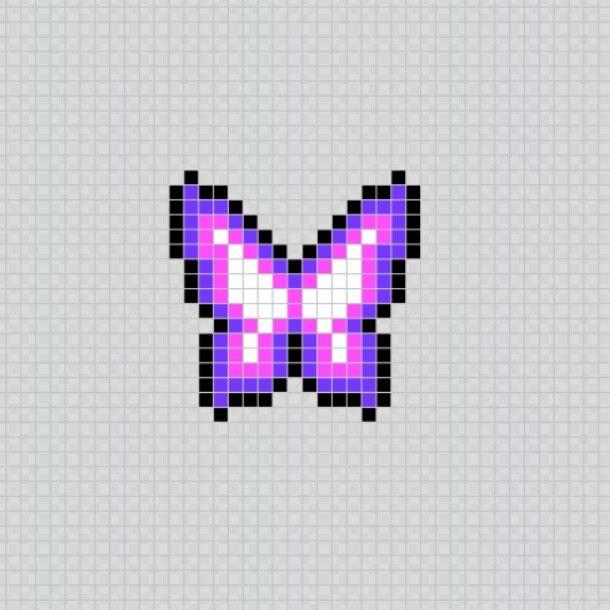 Mariposa Butterfly Animal Insecto Pixel Art Patterns Dibujos En Cuadricula Punto De Cruz Punto De Cruz Rosas