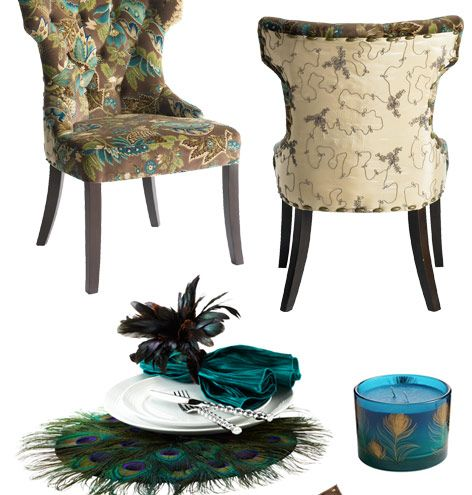 Pier 1 Peacock Tufted Dining Chairs Peir1 Fav Tufted