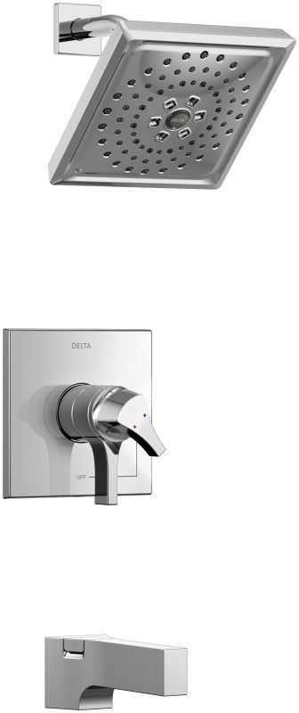 Delta T17474 Zura 17 Series Dual Function Pressure Balanced Shower Package with Chrome Faucet Tub and Shower Double Handle