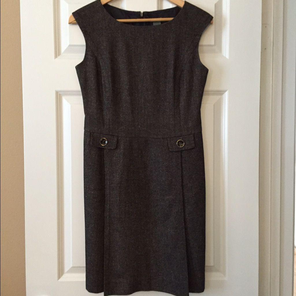 Ann taylor tweed dress in dark brown tweed dress dark brown and