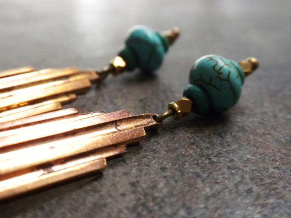 Art Deco Jewelry Niobium Wire Earrings