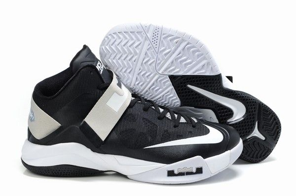 best service cd1f5 b1dab Nike Zoom Soldier 6 Black White Basketball shoes sale on http