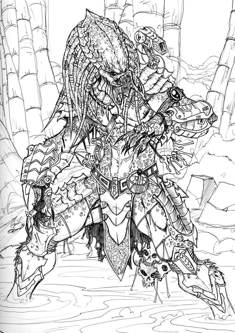 Predator Over Here By Vandalocomics Predator Artwork Predator Art Alien Vs Predator