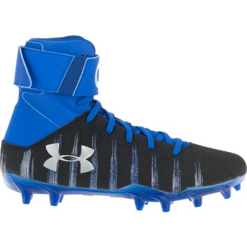 037e35995 Under Armour Boys' C1N MC JR Football Cleats (Blue/Silver, Size 2) - Youth  Football Shoes at Academy Sports