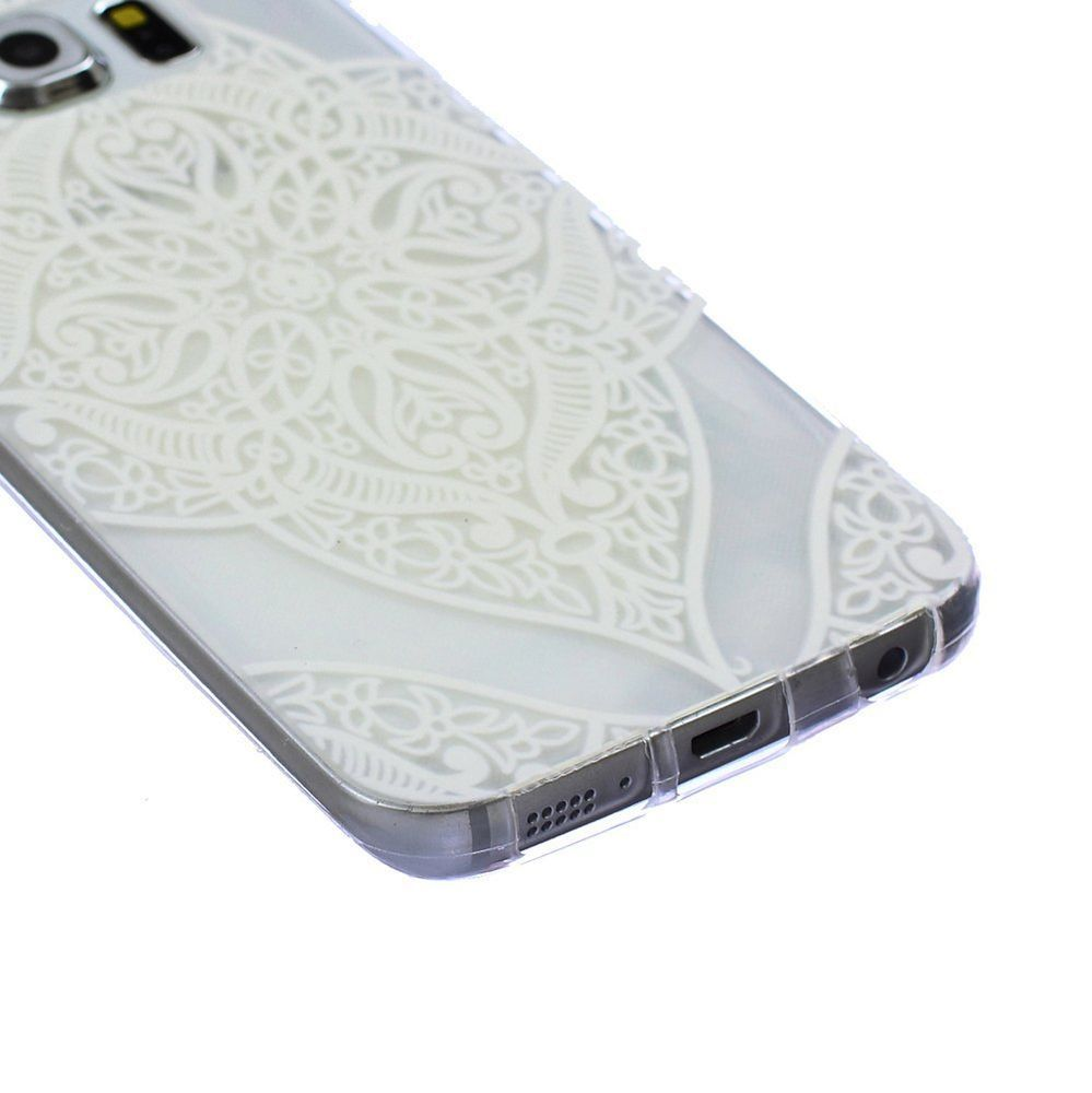 Transparent Flower Soft Gel Skin Case Cover For Samsung Galaxy S6 Edge G925 ....very pretty