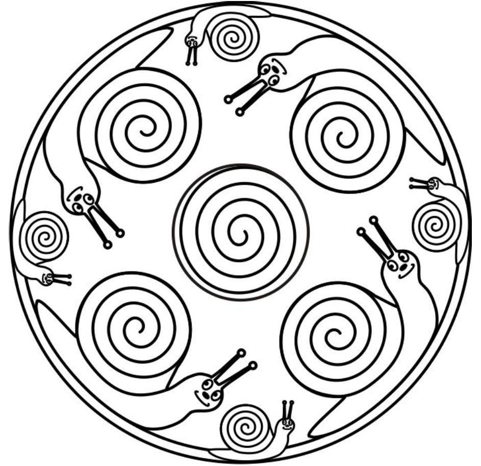 Albumarchief Mandala Malvorlagen Schnecke Basteln Schnecken