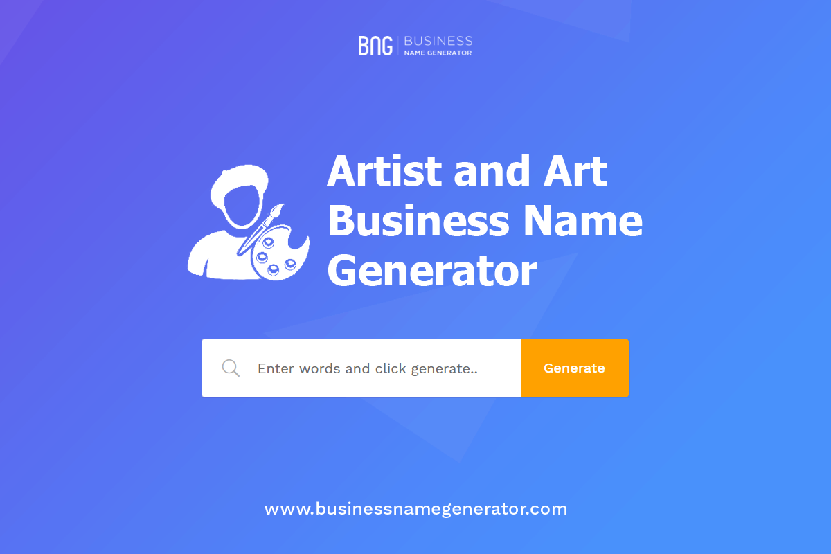 Artist And Art Business Name Generator Business Names Name Generator Art Business