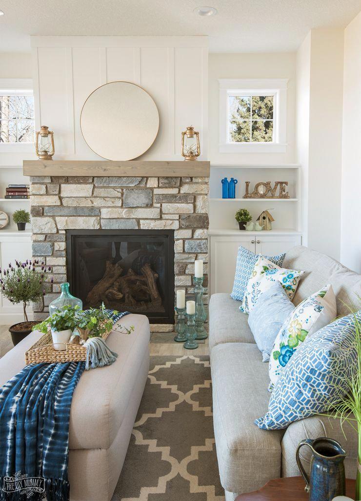 Traditional Coastal Cottage Living Room Decor Ideas