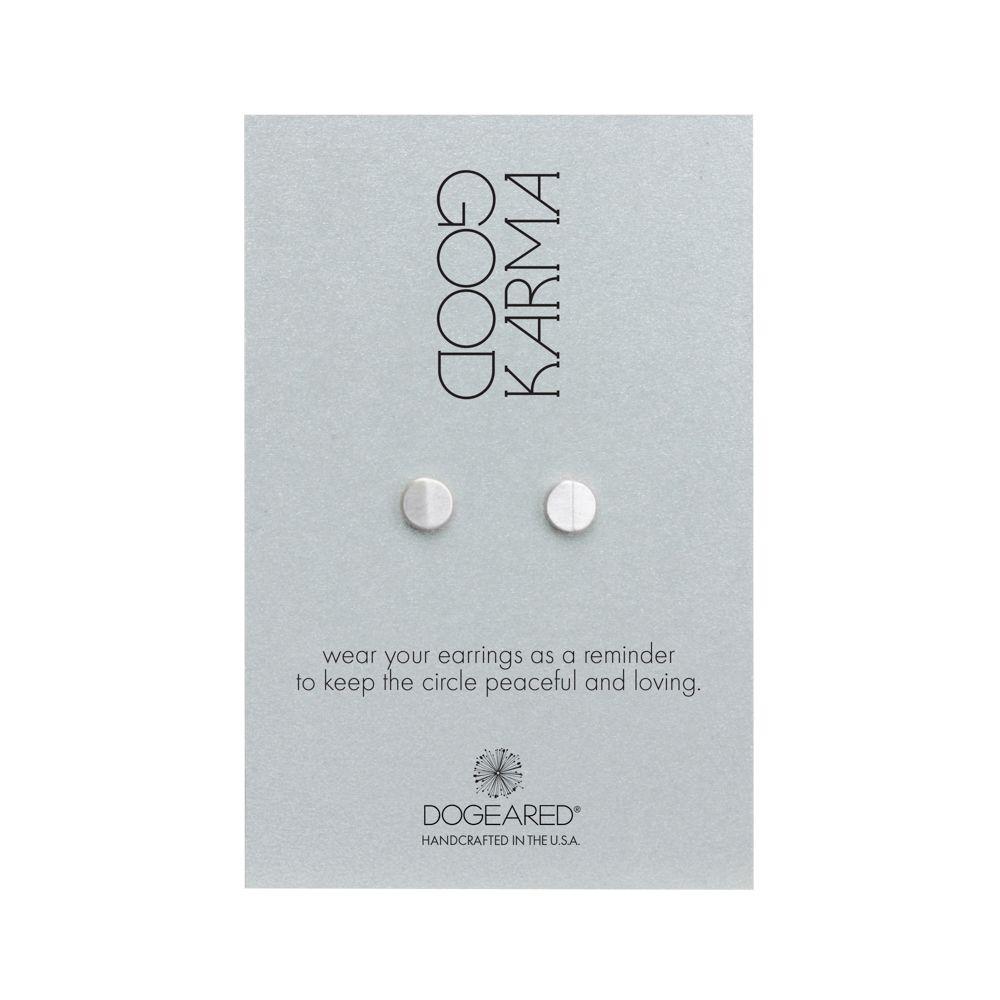Peak Circle Stud Earrings Dogeared Karma
