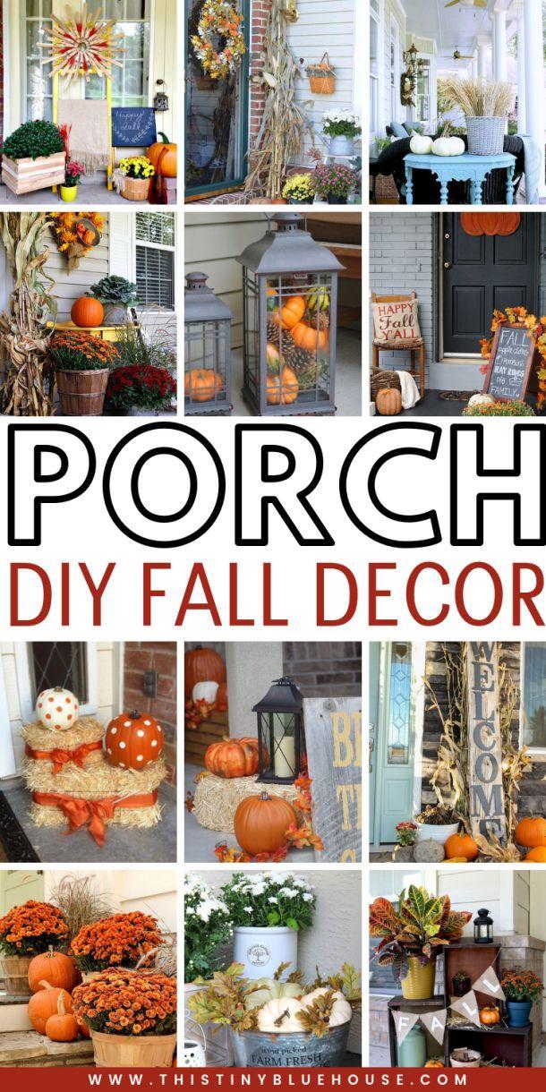 Ponad 130 najlepszych pomysłów na jesienne dekoracje - Home Decor #falldecorideasfortheporch