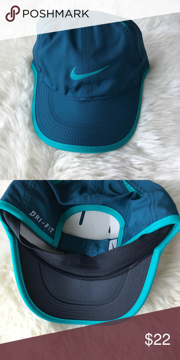 95bd19564b9e2 Nike Turquoise Dri-Fit Featherlight Cap •Turquoise featherlight cap from  Nike •New with tag. •NO TRADES HOLDS PAYPAL MERC VINTED NONSENSE. Nike  Accessories ...