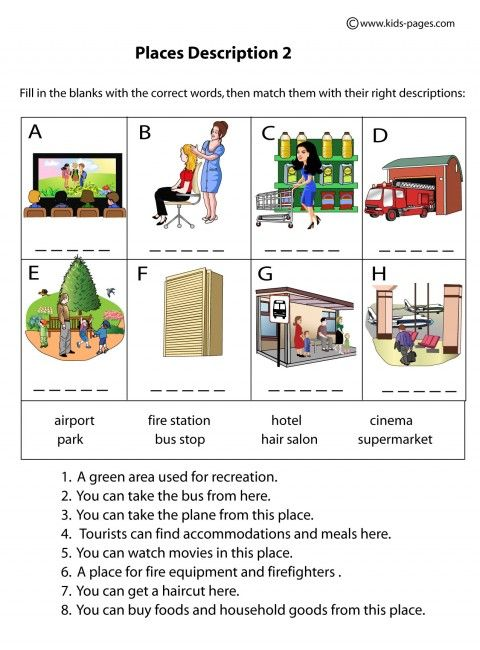 Worksheets Worksheet Place common worksheets the worksheet place preschool and places descriptions 3 vocabulary pinterest places