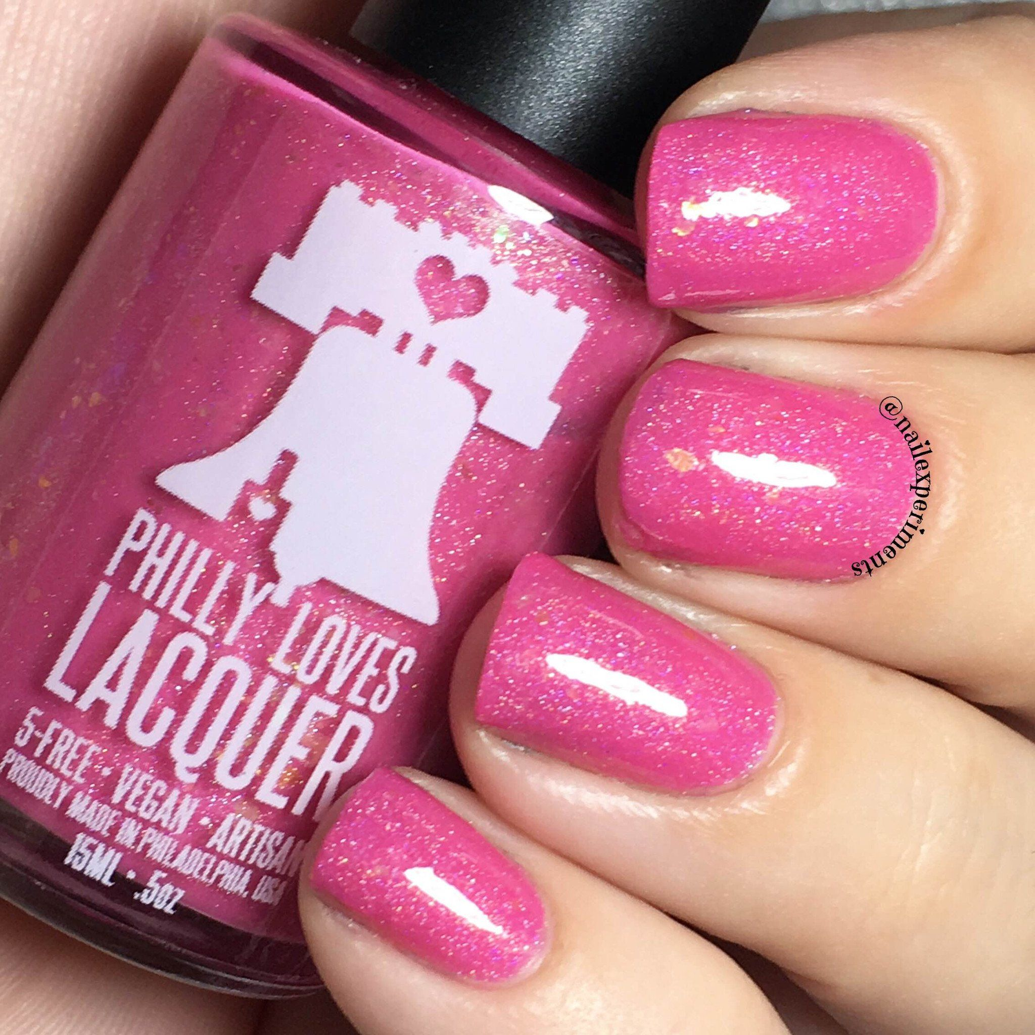 Philly loves lacquer - You Can\'t Sit With Us Pink Flakie Holo Crelly ...