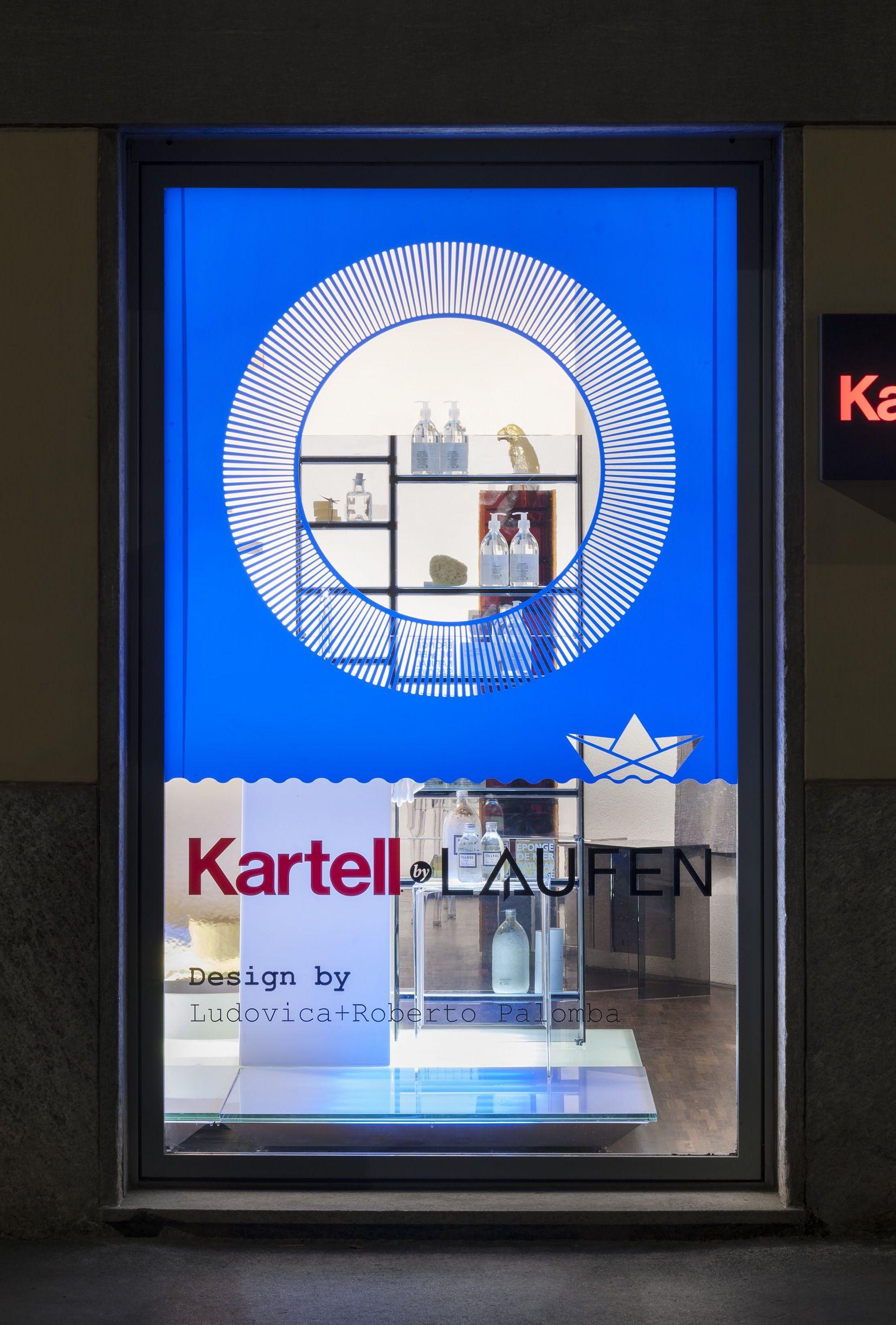 Kartell By Laufen Flaship Store Milano Kartellbylaufen Credit Simona Pesarini Phot Acrylic Furniture Window Benches Display