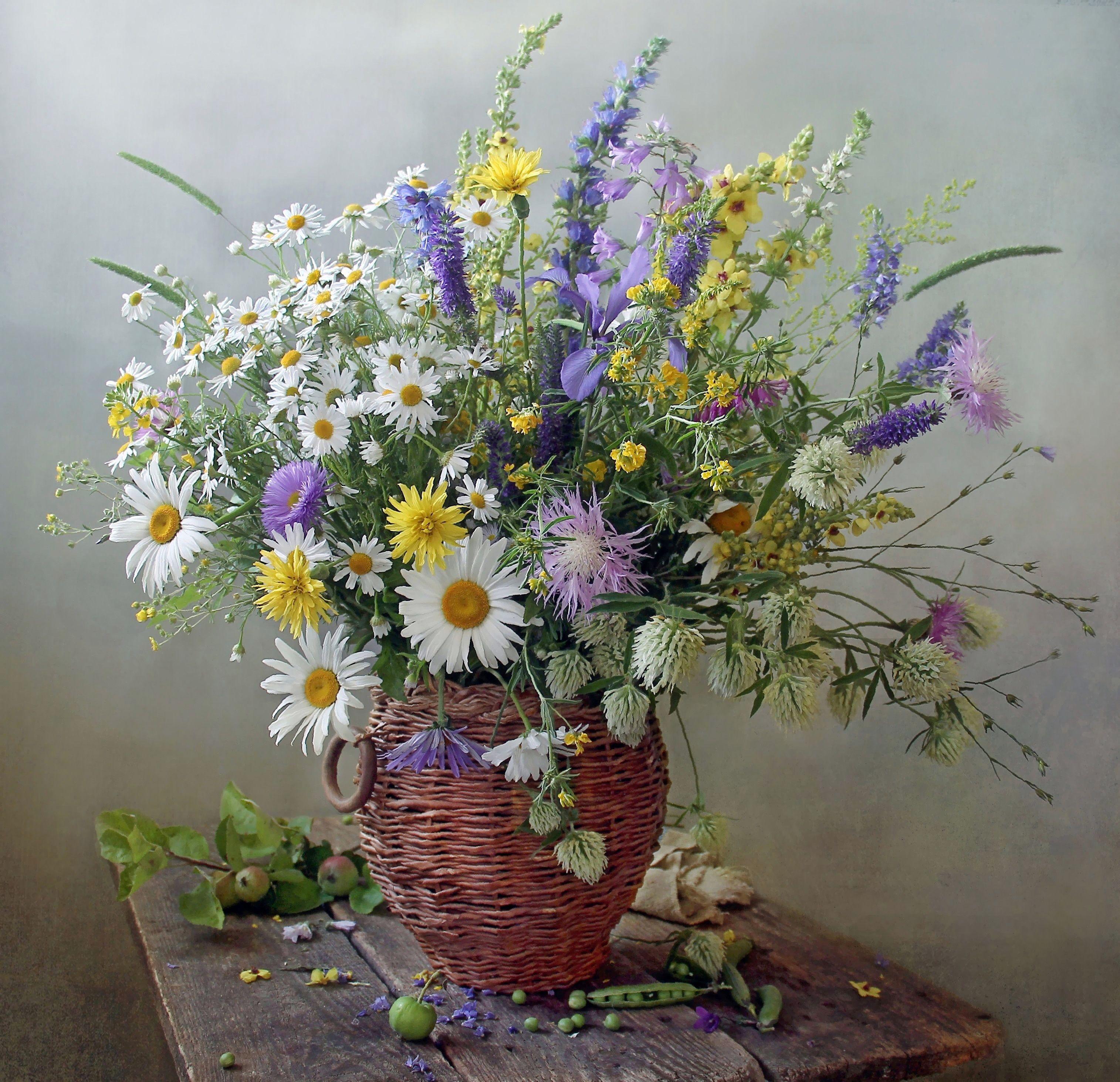 Цветы полевые в вазе картинки для
