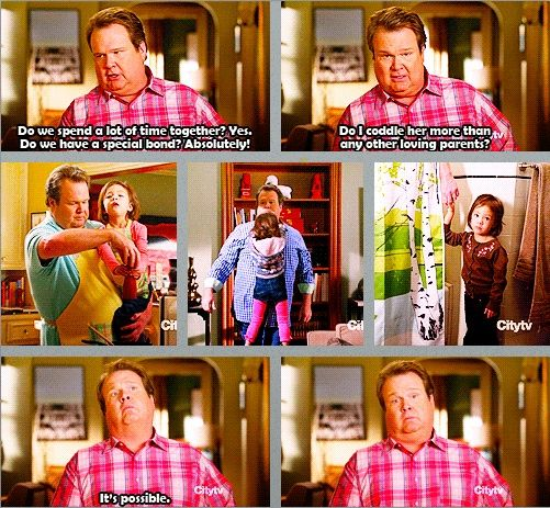 Modern Family Season 4 Do I Coddle Her More Than Any Other Loving Parent It S Possible Modern Family Quotes Modern Family Funny Modern Family Tv Show