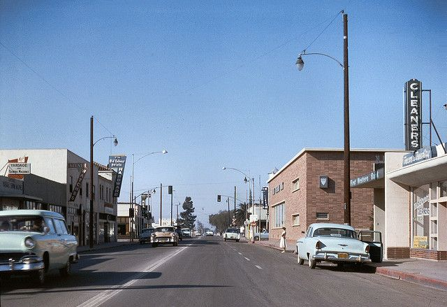 Downtown Garden Grove January 1957 With Images Garden Grove