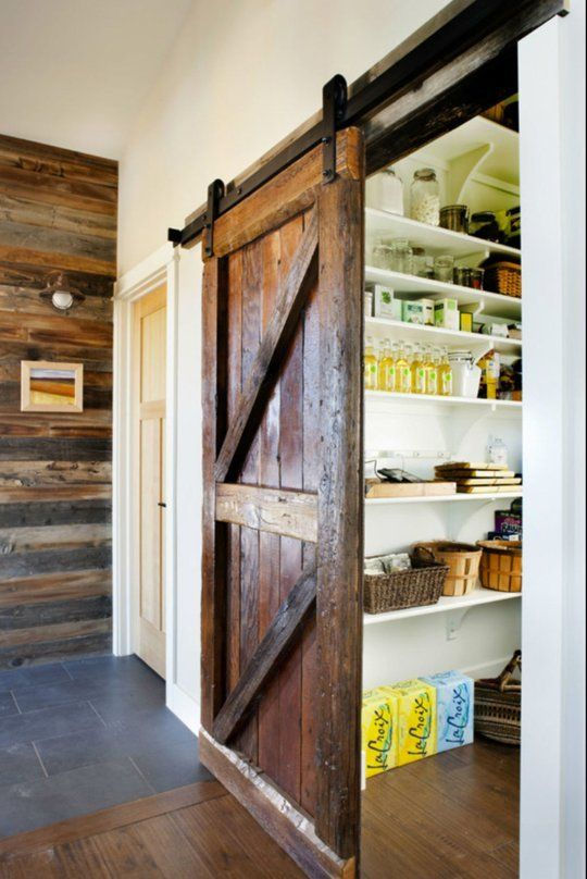 A Sliding Barn Door to the Pantry  Kitchen Inspiration