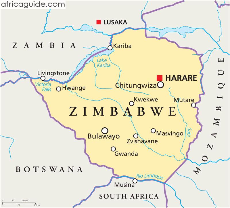 Zimbabwe map with capital Harare   Nostalgia!   Zimbabwe flag