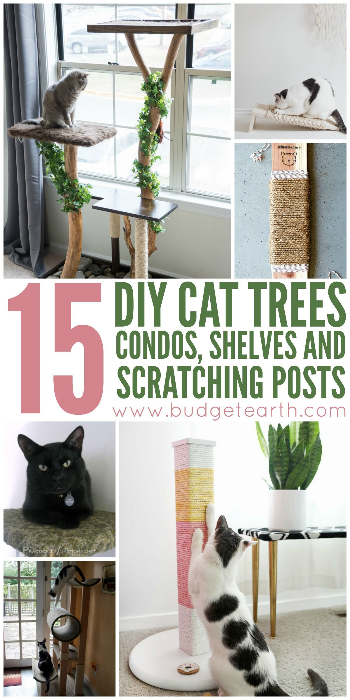 46d4e0ac3331 Want to spoil your cat? Check out these 15 DIY Cat Trees, Condos, and  Scratching posts projects here!