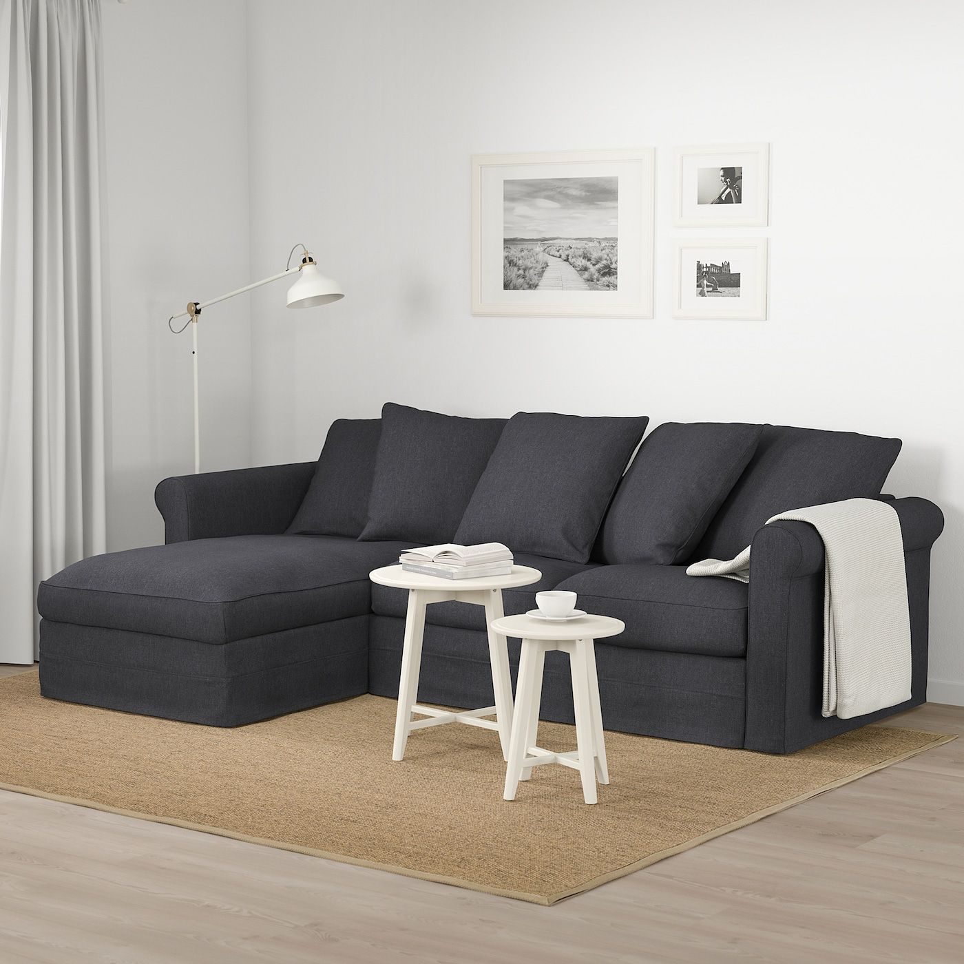 Ikea Gr Ouml Nlid 3er Sofa Mit R Eacute Camiere Sporda Dunkelgrau In 2020 3er Sofa Sofa Stoff Chaiselongue