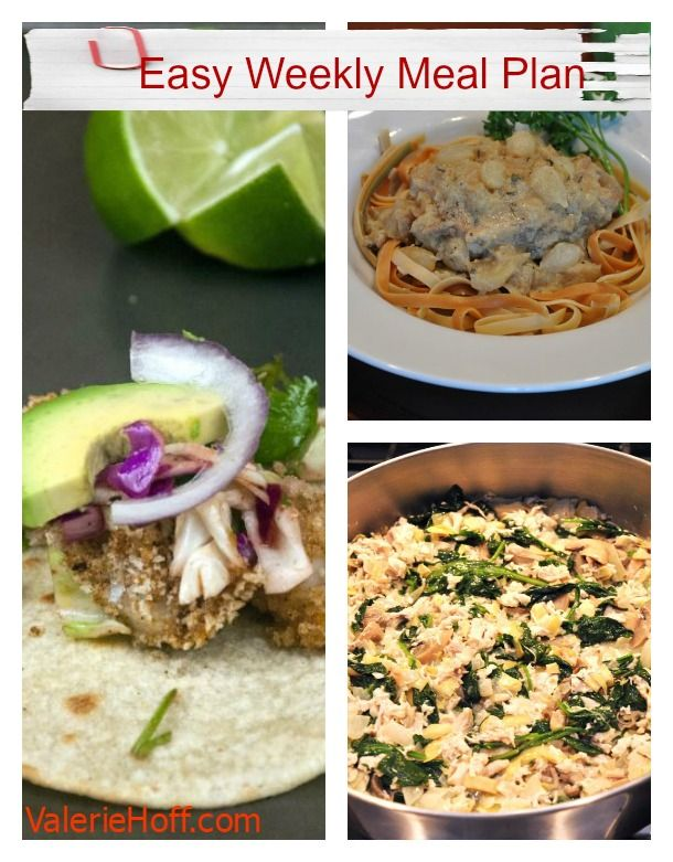 Quick and Easy Weeknight Meal Planner -