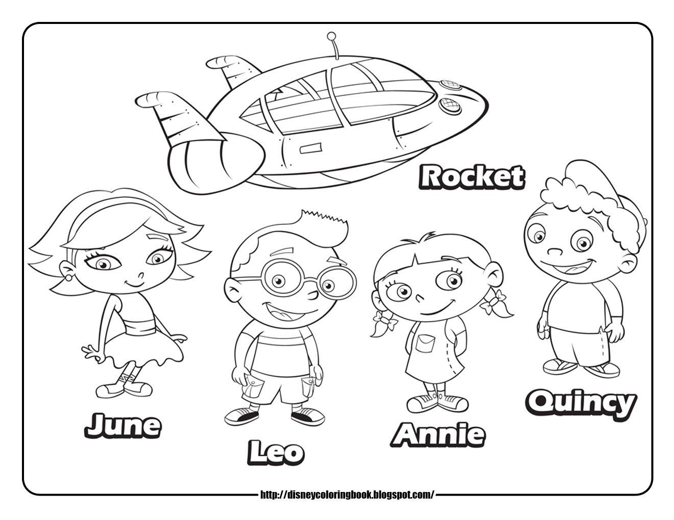 Little Einsteins 4 Free Disney Coloring Sheets Little Einsteins