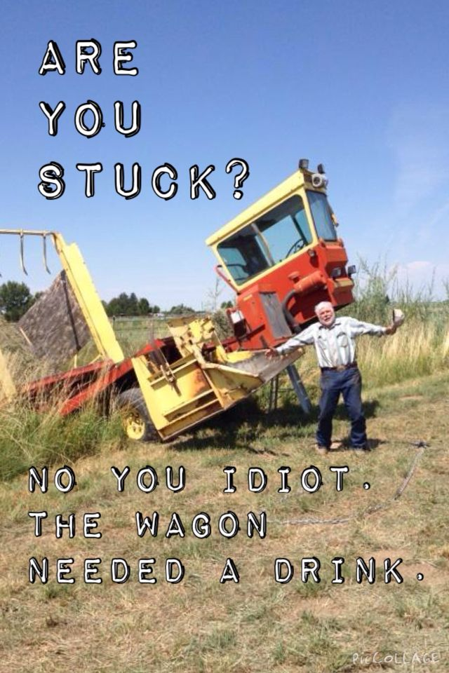 No the wagon wanted a drink