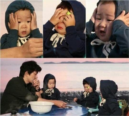 Daehan minguk manse scared of shrimp. Busowooo~~~