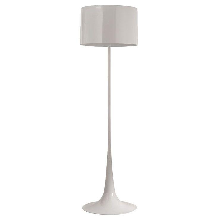 253 lexmod silk floor lamp in white