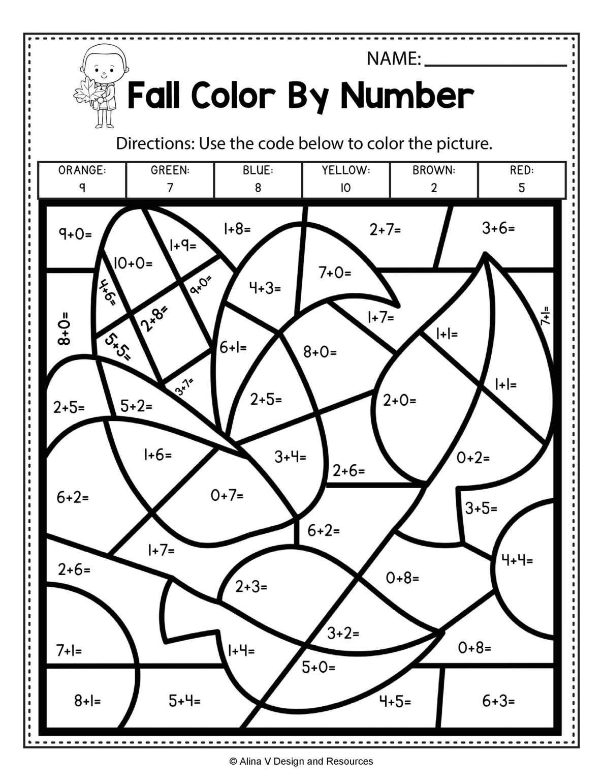 17 Fall Math Worksheets 2nd Grade In