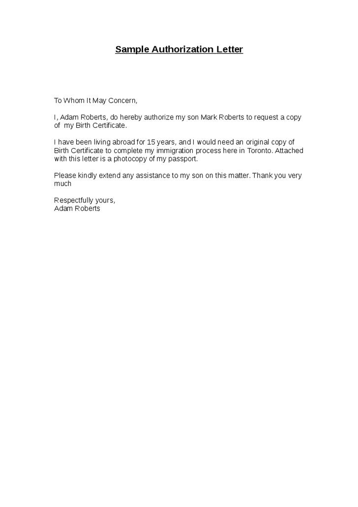 letter consent sample authorization parental travel