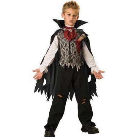 SLAYED VAMPIRE CHILD BOYS FANCY DRESS HALLOWEEN COSTUME