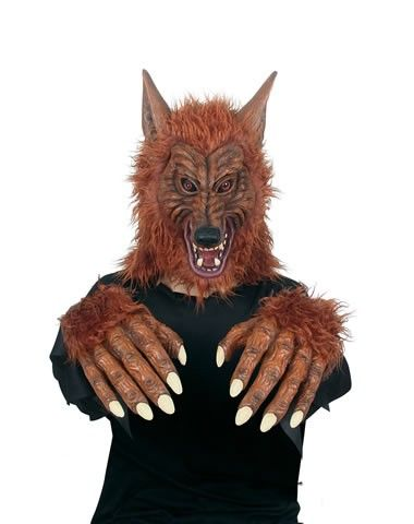Brown Wolf Mask & Hands | Halloween Guru | Pinterest | Wolf mask ...