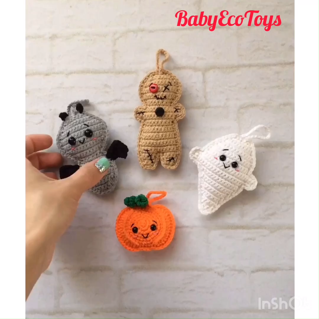 Amigurumi pattern / Crochet pattern PDF Flat Halloween toys #instructionstodollpatterns