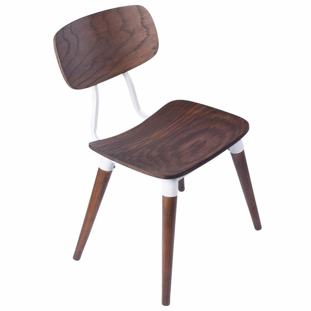 Iconic Modern Furniture Copine Inspired Sean Dix Chair In Rustic Walnut Retro Midcentury