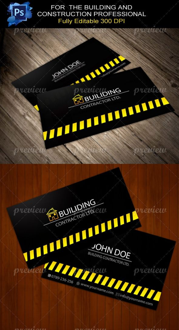 Building contractor business card building contractors business building contractor business card colourmoves