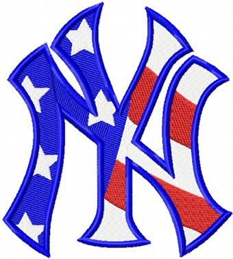 new york yankees new york yankees flag logo machine embroidery design go yankees